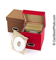 Media storage boxes
