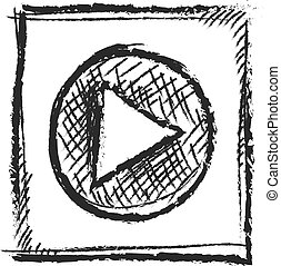 media symbol, vector icon