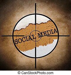 media, tarcza, towarzyski