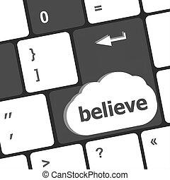 media, tastiera laptop, testo, chiave, sociale, credere