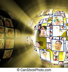 Media technology concept