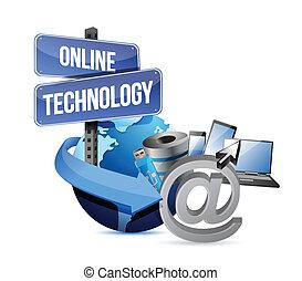 media, tecnologia, concetto, disegno, illustrazione