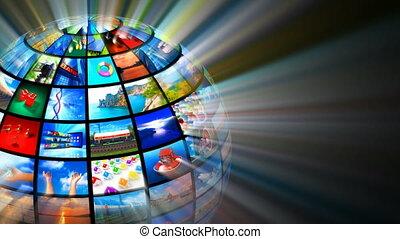 media, tecnologie, concetto
