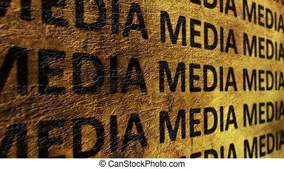 media, tekst, grunge, pojęcie
