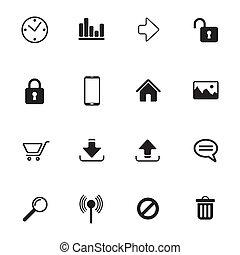 media, towarzyski, ikony