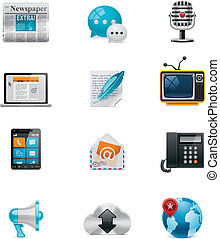 media, vector, communication&social