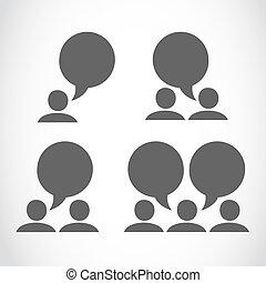 media, verbinding, groep, sociaal