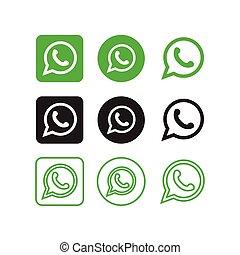 media, whatsapp, sociale, icone