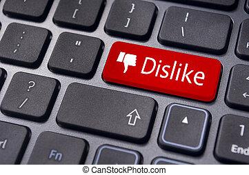 media, wiadomość, wejść, anti, klawiatura, concepts., nie lubić, towarzyski