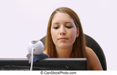 Media - Woman working online