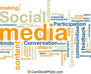 media, wordcloud, sociaal