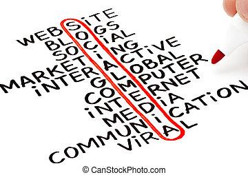 media, wykres, towarzyski