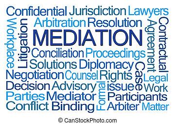 mediación, palabra, nube