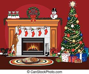 medias de navidad, y, mascotas