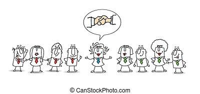 Mediation between two working teams - Two groups of people...