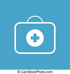 Medic bag white icon