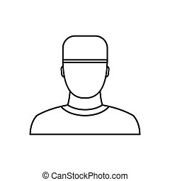 Medic icon in outline style