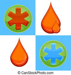medic symbols set