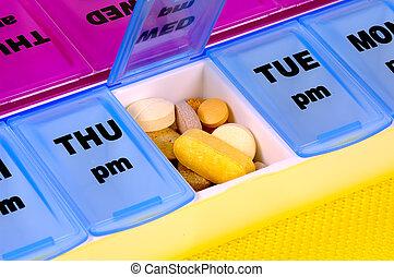 medicação, diariamente