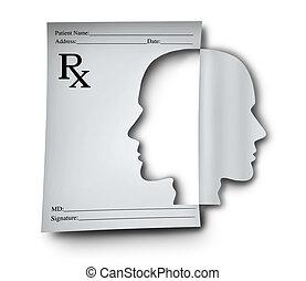 medicación, salud, mental