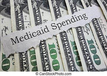 Medicaid newspaper headline