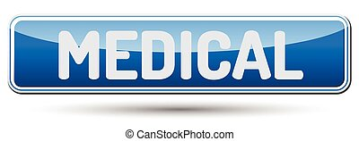MEDICAL - Abstract beautiful button with text.