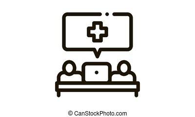 Medical Aid Icon Animation. black Medical Aid animated icon on white background