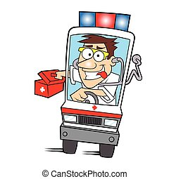 Medical ambulance Cartoon