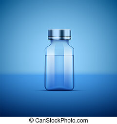 Medical ampoule blue. - Medical ampoule, Objects on blue...