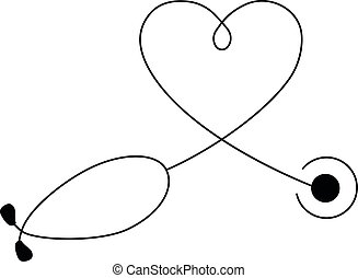 Medical and Health care concept, stethoscope heart shape