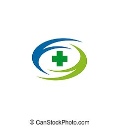 Medical and health care icon logo design template