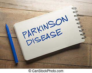 Medical and Health Care Words Typography Concept, Parkinson Disease