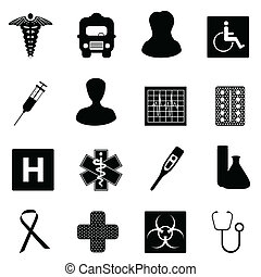 Medical and healthcare symbols - Symbols related to medicine...