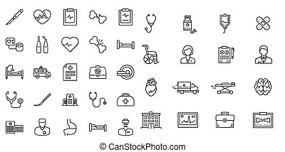 Medical And Hospital symbol collection Icon vector
