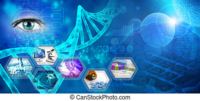 medical and pharmaceutical research abstract blue backdrop