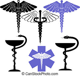 medical and pharmacy symbol - medical and pharmacological ...
