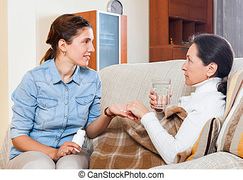 medical assistance - Adult daughter caring for illness ...
