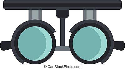 Medical autorefractometer icon, flat style
