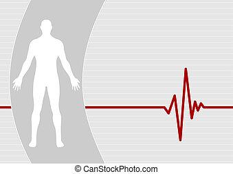 Medical background - Male on pulse background