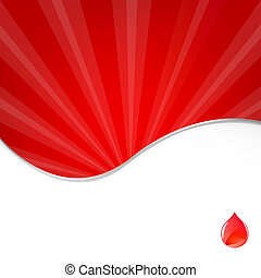 Medical Background With Blood Drop