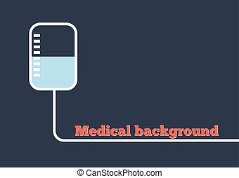 Medical background with drop counter