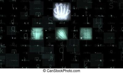 Medical backround with xray animation