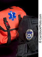 Medical bag and vest - EMT medical bag with Life Star ,...