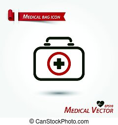 Medical bag icon .