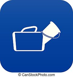 Medical bag icon digital blue