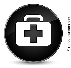 Medical bag icon elegant black round button