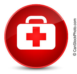 Medical bag icon elegant red round button