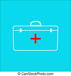 medical bag icon outline