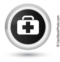 Medical bag icon prime black round button