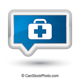 Medical bag icon prime blue banner button